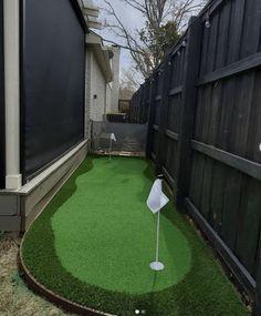 Backyard Putting Green, Baseball Field, Golf Courses, Landscape, Green Ideas, Plants, Backyard Ideas, Google Search, Scenery