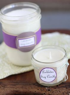 Make Your Own Lavender Soy Candles
