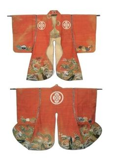 Edo period (1603-1867) mens Jinbaori Kimono. Hand stitched silk woven with tsume tsuzure technique.. Threads are stitched one by one, woven elaborately with nails, this would take an incredibly long time to complete.
