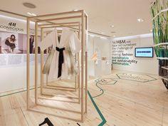 FormRoom for H&M   Conscious Lounge Pop-Up, Oxford Circus   #Conscious #PopUp #RetailInteriors #StoreDesign #VM #Digital