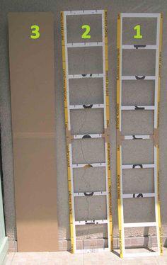 ETAPE 1 : Découpe du carton Choisissez un carton solide n'ayant pas pris l'eau, sans trou, ni pliure. Le sens de la cannelure est important, positionnez la cannelure verticalement, il est beaucoup plus solide. Alors que la cannelure positionnée horizontalement,...