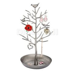 Dazone Jewelry Tree Rack Display Earring Necklace Holder Jewelry