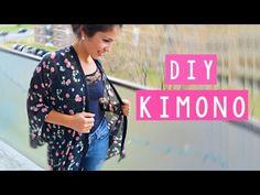 DIY - Cómo confeccionar un Kimono sin patrón | Coser con Manneken - YouTube