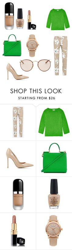 """""""Senza titolo #61"""" by elephantino ❤ liked on Polyvore featuring Valentino, Oscar de la Renta, Gianvito Rossi, Dolce&Gabbana, Marc Jacobs, OPI, Chanel, Burberry and Ray-Ban"""