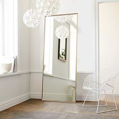 ⚜️ Add charm to your home with NeuType Full Length Mirror Floor Mirror with Standing Holder Bedroom/Locker Room Standing/Hanging Mirror Dressing Mirror Wall-Mounted Mirror (Golden) from Industrial Floor Mirrors, Modern Floor Mirrors, Industrial Metal, Mirror Floor, Industrial Style, West Elm, Reclaimed Wood Floors, Dressing Mirror, Dressing Room