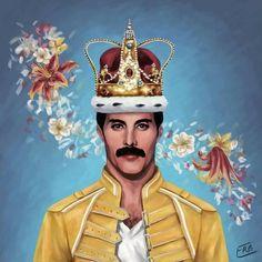 Drawing Freddie mercury