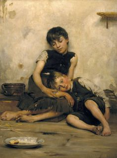 "Victorian British Painting: Thomas Benjamin Kennington - ""Orphans"""