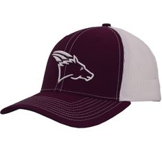49b87cdd99 Maroon White Retro Coolhorse Cap with White Logo http   shop.coolhorse