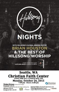 Hillsong Nights w/ Brian Houston | Christian Faith Center