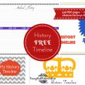 Free Timeline Figures Homeschool Matching Story of the World