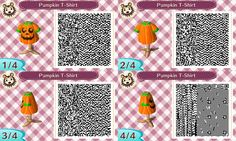 Pumpkin T-shirt #Halloween #acnl #AnimalCrossing #NewLeaf #Nintendo #3DS