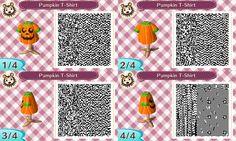 Pumpkin T-shirt #Halloween #acnl #AnimalCrossing #NewLeaf #Nintendo #3DS
