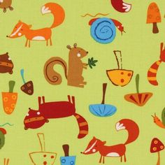 fox fabric @Katie Cunningham
