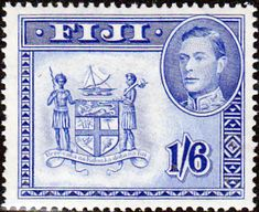 Fiji 1938 SG 263 Coat of Arms Fine Used SG 263a Scott 128a Other British Commonwealth Empire and Colonial stamps Here