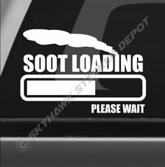 Soot Loading Funny Bumper Exhaust Sticker Vinyl Decal Turbo Diesel For Dodge Ram #3MAvery