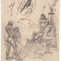 Frank Frazetta - Rogue Roman Original  Preliminary Pencil Sketch •1968•
