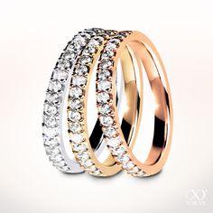 """""""Eterna"""" eternity diamond ring in whitegold, gold and rose gold #yorxs #diamanten #diamantring #edelmetalle"""