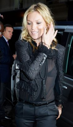 The Many Black Jackets of Kate Moss via @WhoWhatWear....So Haute Couture! !!!!