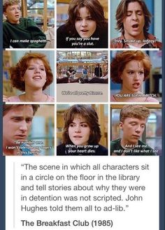 breakfast club character evaluations Based on the original poster's characters, gadot is technically labeled as the beauty, molly ringwald's character but as hughes' movie proves, each of the characters in the breakfast club.