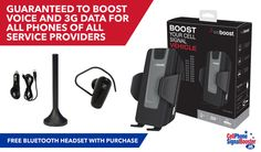 Free shipping and orders shipped same business day if ordered by 1 PM CST. Free bonus accessories included with purchase of weBoost Drive 3G-S 470106 Cradle Booster Kit