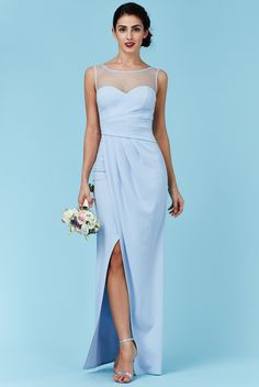 March elegant powder blue gown with sweetheart underlay and mesh illusion neckline is a winner. The beautiful tulip skirt is very flattering. Now in store. Many more gowns to choose from. We cater for all needs. Purchase or hire.Visit us in Albany. Powder Blue Gown, Liberty Blue, Tulip Skirt, Affordable Wedding Dresses, Illusion Neckline, Formal Gowns, Wedding Designs, Wedding Gowns, Ball Gowns