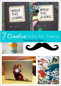 Christmas Gifts: 7 Creative Gifts for Teens--The Peaceful Mom  #christmasgifts