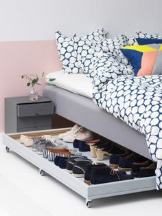Smart (and Cheap) Ways to Store More in Your Bedroom #bedroom; #bedroomideas; #bedroomdecor; #bedroomdesign; #storage; #apartments