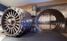 banking vault Suites at One King West; the bank vault from the 126 year prior owner; still in the basement of the hotel today. Its VERY impressive in person! Toronto Hotels, Downtown Toronto, One King West, Safe Door, Safe Vault, Vault Doors, Banks Vault, Cool Doors, Security Door