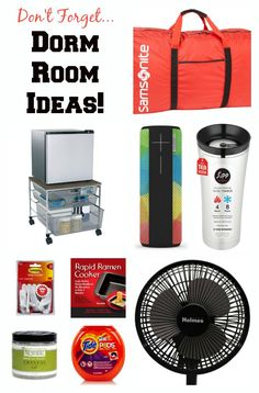 Beyond The Comforter: Ideas To Furnish Your Kid's College Dorm Room So you've bought the sheets, towels and comforter. Here is a list of lesser thought of, must-have, items for your kid's college dorm room. Dorm Room List, Guy Dorm Rooms, Dorm Room Checklist, Guys College Dorms, College Dorm Rooms, College Fun, College Life, College Board, College Ready