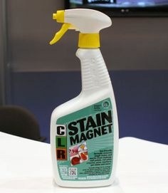 """If you're looking for an all-purpose stain remover that promises to be kinder to the environment, CLR's Stain Magnet ($4.99 for 26 fl. oz.) received the DFE designation (""""Design for the Environment"""") by the U.S. Environmental Protection Agency, meaning it boasts """"safer,"""" environmentally friendly chemistry. Still, maker Jelmar promises that this trigger-spray formula can bust tough messes like red wine, nail polish, crayons, pet stains, and more from both soft and hard surfaces alike…"""
