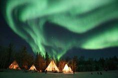 The beautiful northern lights and teepees at the IDAHO WASHINGTON BORDER 2 by AvatarPhoenixReborn on DeviantArt