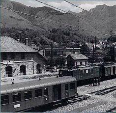 La gare de Bedous en juillet 1978 - Vallée d'Aspe, Pyrénées Atlantique