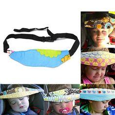 Seguridad Niños Asiento Coche Cabeza Soporte Cinturón Cojín Correa Sueño Dormir