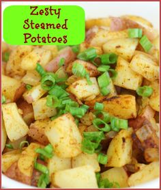 These zesty steamed potatoes are super easy and on the table in about 10 minutes! Steam them in the microwave with spices and you have an amazing side dish.