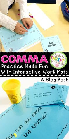 Make comma practice fun and interactive for your students with dough and work mats. Find out how to implement this quick, easy, and effective method in your class.