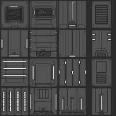 ArtStation - Neon Shadow Tile Concepts, Luke Viljoen