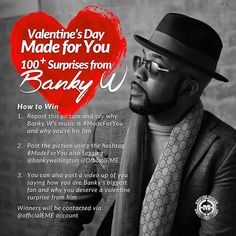 Adult-U Blog: Banky W Has a Valentine's Day Surprise for You