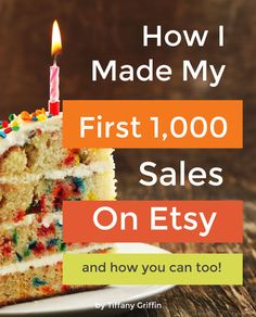 An ebook showing you how I made my first 1,000 sales on Etsy. You can do it too! [etsy tips] - beautifuldawndesigns.net