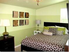 I like the tonal Paint stripes reamed with b Bedroom @ C.R.A.F.T.