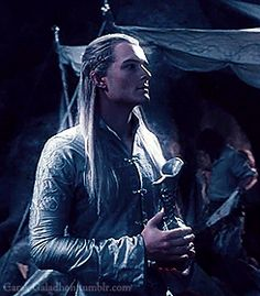 Legolas looking a bit like his father Thranduil!