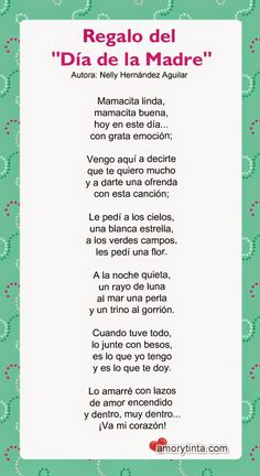 poema para imprimir para el dia de la madre Grief Poems, Mom Poems, Mothers Day Poems, Mother Father Quotes, Mother And Father, Poetry For Kids, Spanish Quotes, Book Quotes, Quotations