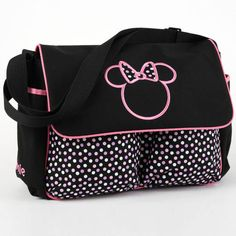 MINNIE MOUSE Large Diaper Bag – Pink Polka Dots