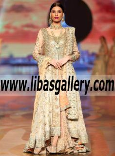 Heavenly Bridal Gown anarkali Dress features Splendid and Sweet Embellishments for Newlyweds -This anarkali gown is romantic,dreamy and E V E R Y T H I N G perfect for a High end wedding! www.libasgallery.com #UK #USA #Canada #Australia #France #Germany #SaudiArabia #Norway #Sweden #NewZealand #Austria #Switzerland #Denmark #Ireland #Mauritius #Netherland #2017bride We have fallen in love over and over ! Does it get any better than this fitted bodice + voluminous Gown?! We don't think so!