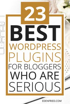 Confused what plugins to download and install on your site? Here are the 23 best WordPress plugins for bloggers who are serious!