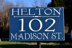Address Welcome Sign Custom House Numbers Plaques Personalized Street Address