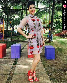 #Repost @BollywoodStylefile  Yay  or Nay  Sunny Leone rocking the Nitya Bajaj label outfit  .  Outfit by #nityabajaj .  #bollywoodstylefile #bollywood #bollywoodactor #bollywoodfashion #bollywoodstyle #mbcbollywood #instabollywood #instantbollywood #tagforlikes #likeforlikes #followforfollow #style #beauty #fashion #bollywoodactress #sunnyleone #splitsvilla #hairgoals #hairdo #haircolour #floralprint by bollywood