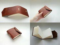 Malý kožený notes / handmade / bookbinding / leather / notepad / notebook / brown