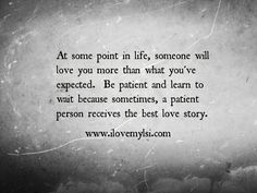 The best love story. » I Love My LSI #love #relationship #quote Patience Love Quotes, Music, God, Heart, Love Relationsh...