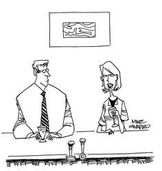 """""""Bad week: My life coach told me my therapist has been bad-mouthing my mentor."""" - Mike Shapiro / from Strategic Humor: Cartoons from the May 2016 Issue of HBR"""