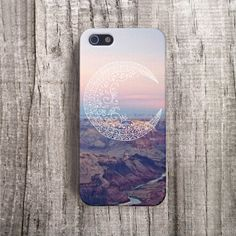 MOON iPhone 5 case Protective iPhone 4 Case Tribal